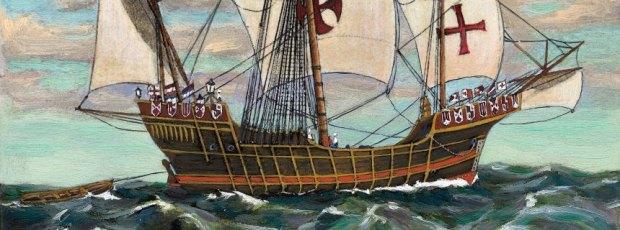 Painting of the Santa Maria at Sea