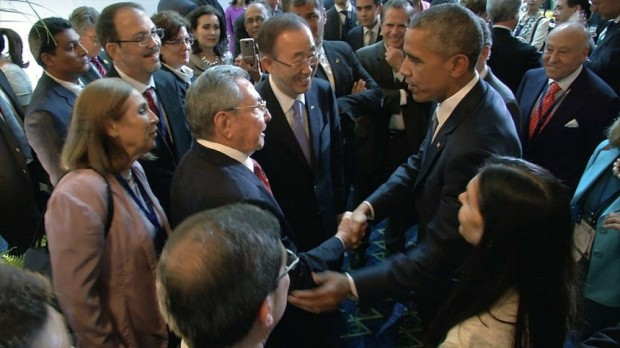 Obama und Castro