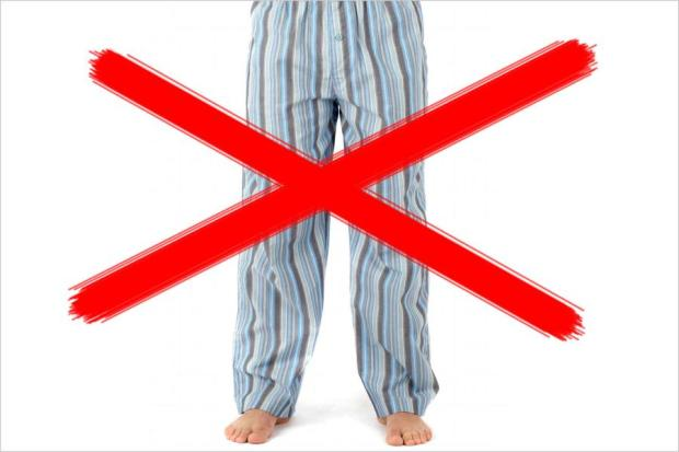Pyjama-Verbot